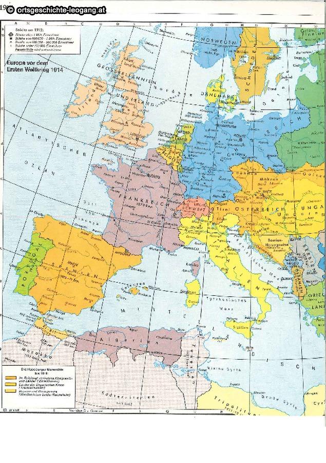 Karte Von Europa 1914.Osterreich Chronik Europa Karte 1914 1984 Pdf